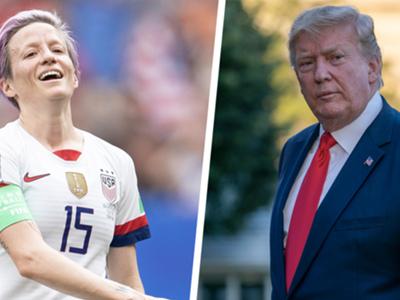 'Honestly, he's a f*cking joke' - Rapinoe downplays Trump feud