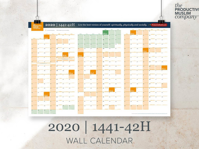 [Available Now] Grab Your Productive Muslim 1441-42H/2020G Wall Calendar Today