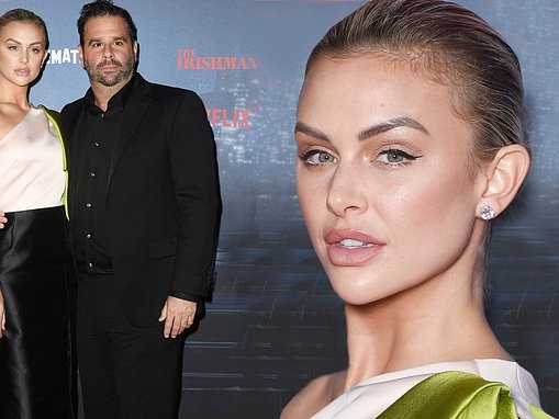 Lala Kent stuns in silk top and skirt with beau Randall Emmett at The Irishman premiere in Paris