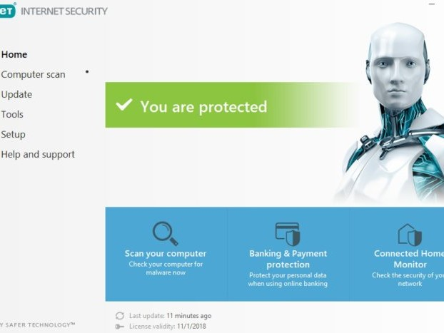 Protect three PCs or Macs with ESET's highly rated Internet Security suite for just $15