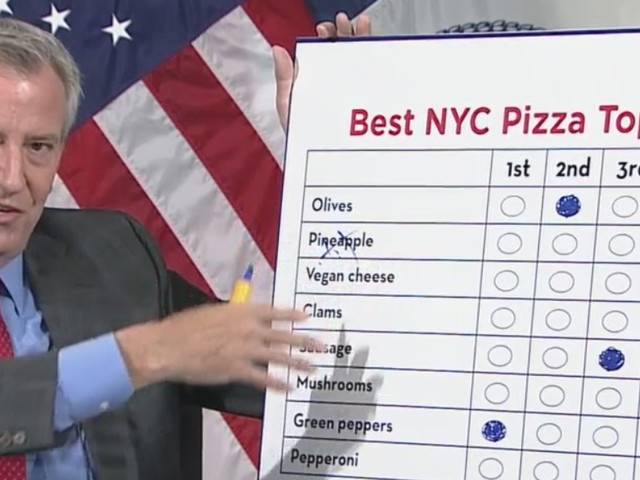 What's Your Favorite Pizza Topping? De Blasio Challenges New Yorkers To Practice Ranked Choice Voting