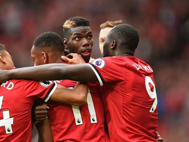 Manchester United line up includes Paul Pogba and Henrikh Mkhitaryan with Anthony Martial on bench