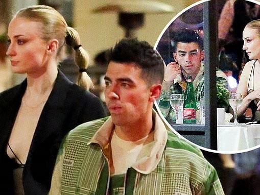 Sophie Turner enjoys a date night with husband Joe Jonas in Beverly Hills