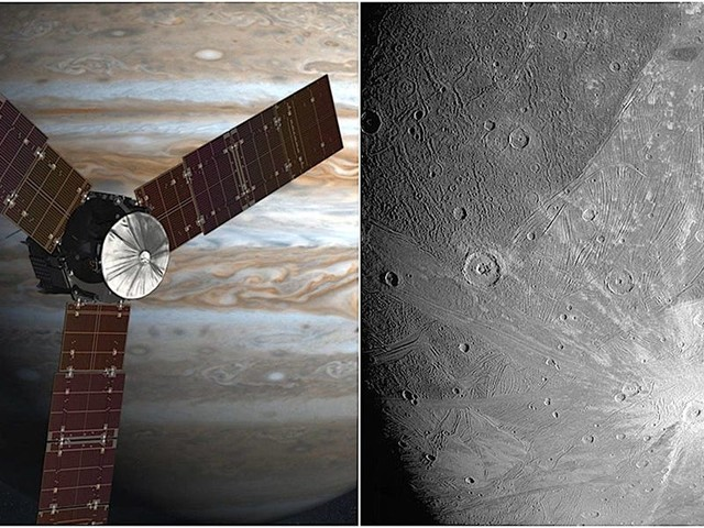NASA's Juno probe at Jupiter beamed back close-up photos of the planet's largest moon, Ganymede, for the first time in 2 decades