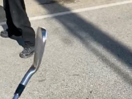 Brandon Thomas Lee chases alleged intruder with a golf club