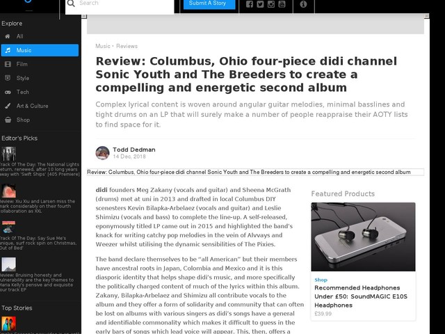 Review: Columbus, Ohio four-piece didi channel Sonic Youth and The Breeders to create a compelling and energetic second album