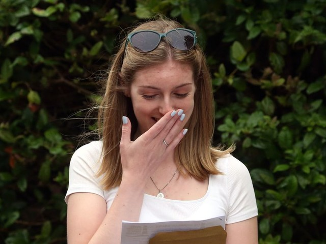 A-level students getting A or A* up by 2.4% - but 39% of results are marked down