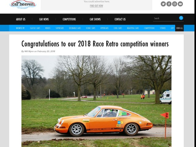 Congratulations to our 2018 Race Retro competition winners