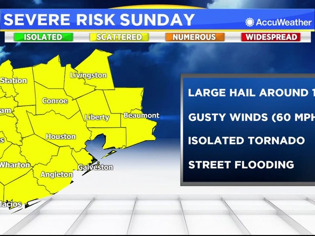 Severe thunderstorm warning issued for Harris County