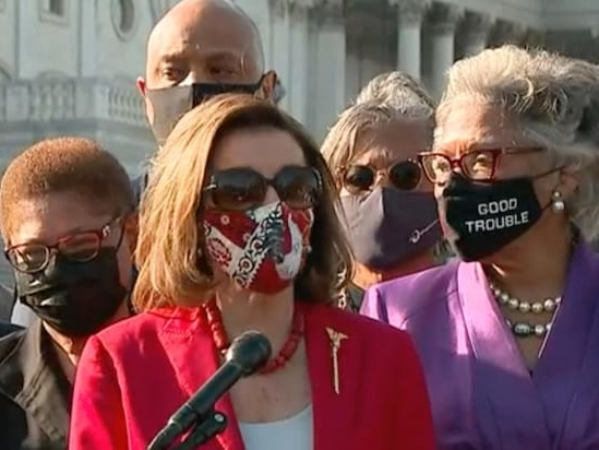 Nancy Pelosi Bizarrely Thanks George Floyd 'for Sacrificing Your Life for Justice' (Video)