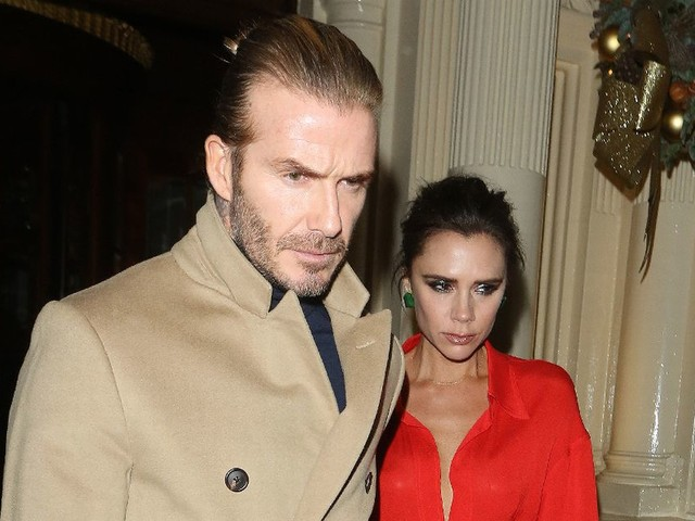 Victoria and David Beckham leave dinner hand in hand as they enjoy rare night out together without kids
