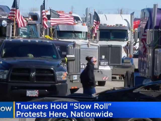 Truck drivers held a protest on Friday about some of the biggest issues in the industry