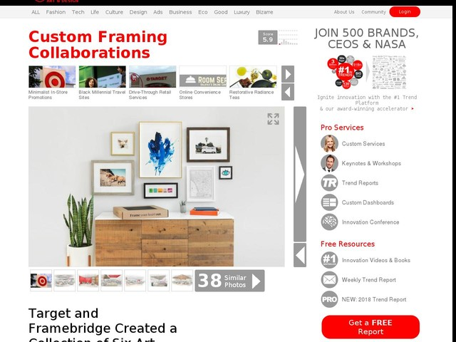 Custom Framing Collaborations - Target and Framebridge Created a Collection of Six Art Frames (TrendHunter.com)