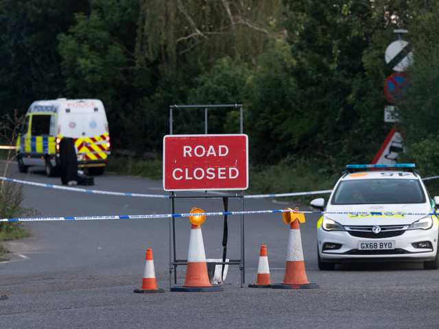 Two men arrested after woman's body found dumped by side of busy road in posh Surrey