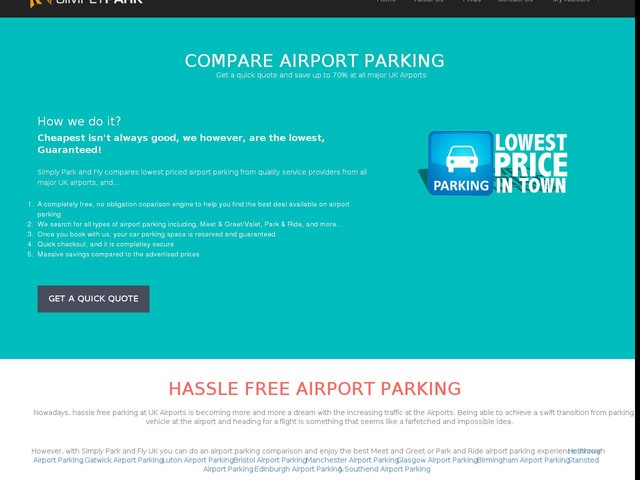 Gatwick parking cheapest meet and greet on airport park and ride compare parking options at major uk airports simply park and fly m4hsunfo Image collections