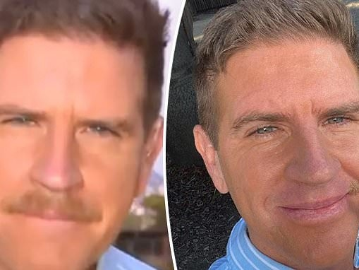 Sunrise's Sam Mac shaves his moustache after a'unanimous thumbs down' from his colleages