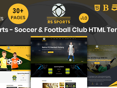RS Sports - Soccer & Football Club HTML Template (Entertainment ...