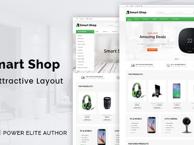 Smart Shop - Responsive Magento 1 & 2 Theme (Technology)