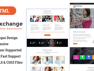 Exchange Educational || Online Education Bootstrap Template (Business)