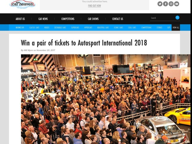 Win a pair of tickets to Autosport International 2018