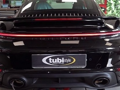 2021 Porshe 911 Turbo S Comes Alive with Tubi Style Exhaust, Popcorn Too