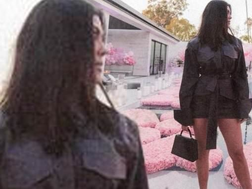 Kourtney Kardashian puts on a leggy display in snapshot from sister Khloe's 36th birthday party