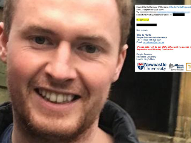 University worker sacked for racism claims email autocorrect changed colleague's name to 'Hash brown'