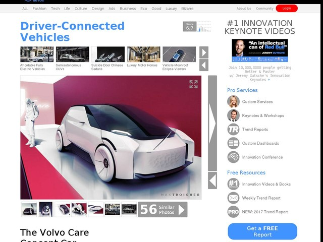 Driver-Connected Vehicles - The Volvo Care Concept Car Accommodates Employee Needs (TrendHunter.com)