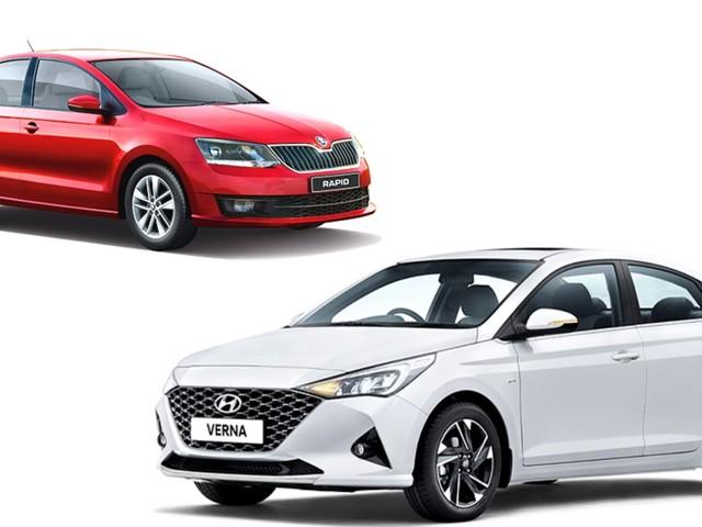 Skoda Rapid Rider Plus Vs Hyundai Verna S – Base Variant Specs Comparison