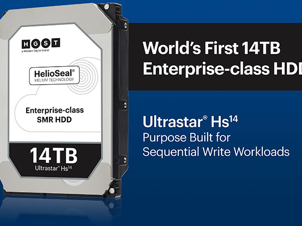 Western Digital Now Shipping 14 TB HDDs: HGST Ultrastar Hs14 with 1000 Gb/in2