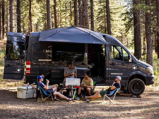 Aftermarket Camper Van Awnings - The 'MoonShade' Portable Awning Offers Protection from the Elements (TrendHunter.com)