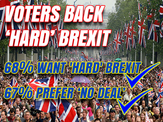 Remoaners Lose as Voters Strongly Back 'Hard' Brexit