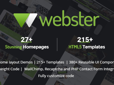 Webster - Responsive Multi-purpose HTML5 Template (Business)