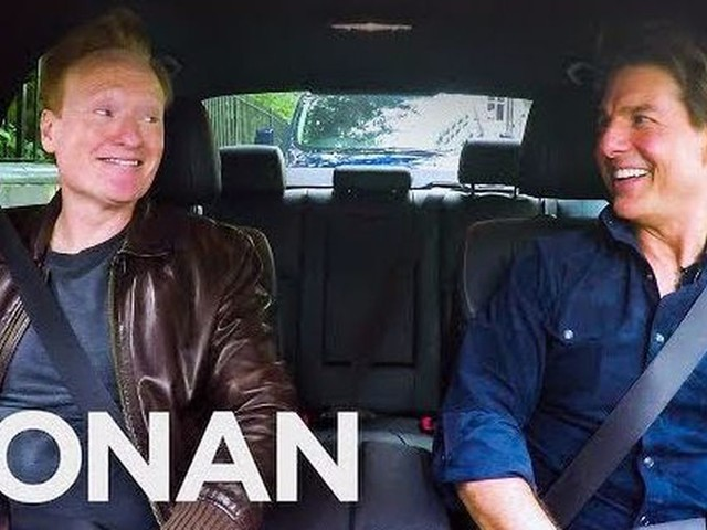 Conan invented his own 'Carpool Karoake'-type segment with Tom Cruise as the first, really uncomfortable guest