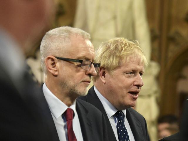 Corbyn tells Johnson to halt US talks until NHS is off table