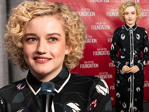 Ozark star Julia Garner dons a chic tulip-patterned dress at a screening event in Los Angeles