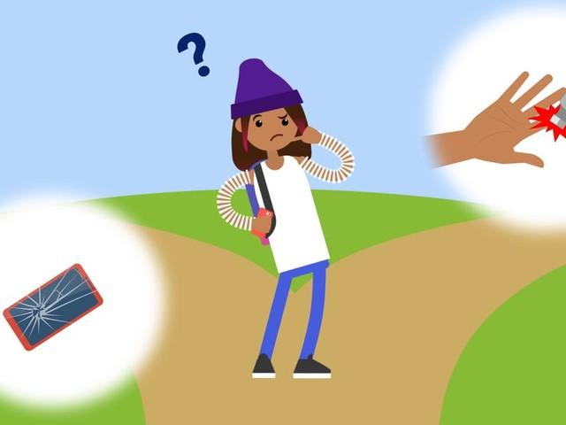 Teens would rather break their bones than lose their phones