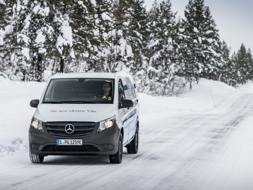 Mercedes-Benz says electric Vito vans skate through Arctic endurance testing
