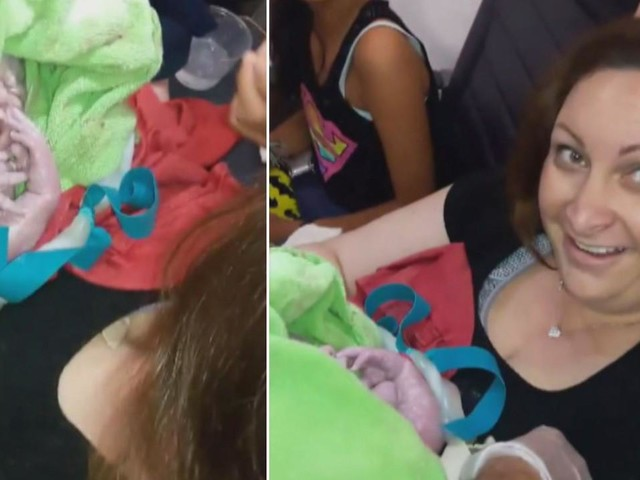 Woman gives birth 35,000 feet in the air on a plane