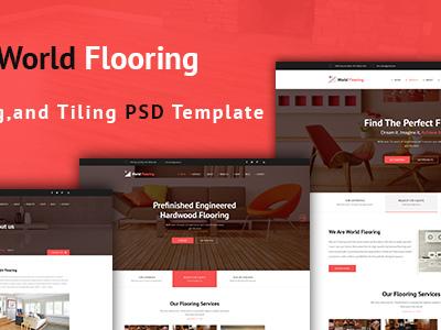 World Flooring - Flooring & Tiles PSD Template (Business)