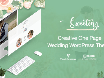 Sweetinz - Creative OnePage Wedding WordPress Theme (Wedding)