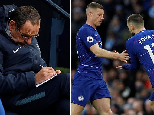 Maurizio Sarri has swapped Ross Barkley and Mateo Kovacic an incredible 19 times this season