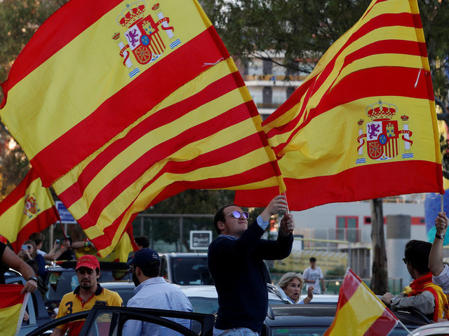 Catalonia: Hundreds Of Thousands March In Barcelona Calling For Spanish Unity