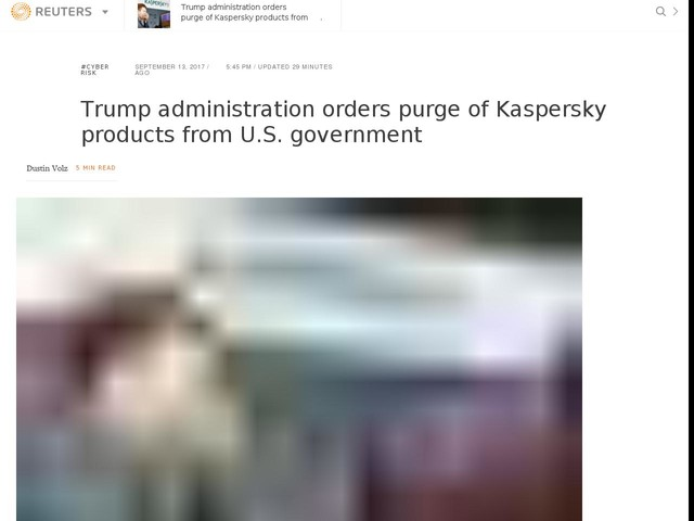 Trump administration orders purge of Kaspersky products from U.S. government
