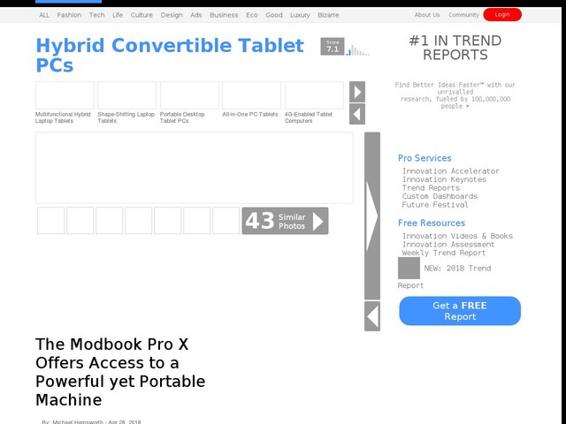 Hybrid Convertible Tablet PCs - The Modbook Pro X Offers Access to a Powerful yet Portable Machine (TrendHunter.com)
