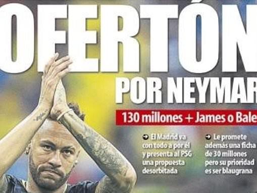 Operation Neymar: Real Madrid 'offer £115m plus Gareth Bale or James Rodriguez' for PSG star