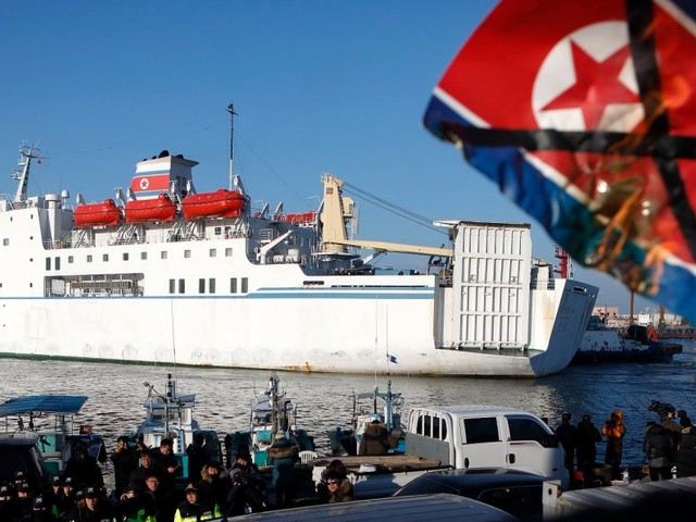 Sanction questions arise as North Korea asks South Korea to fuel its Olympic housing ship