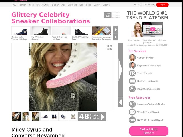 Glittery Celebrity Sneaker Collaborations - Miley Cyrus and Converse Revamped the Chuck Taylor (TrendHunter.com)