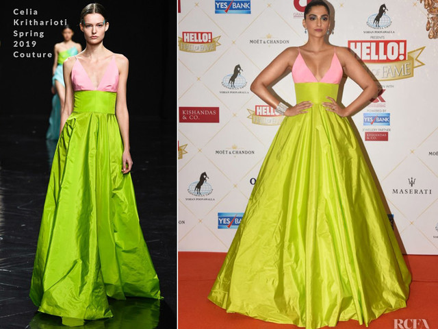 Sonam Kapoor In Celia Kritharioti Couture – Hello Hall Of Fame Awards 2019