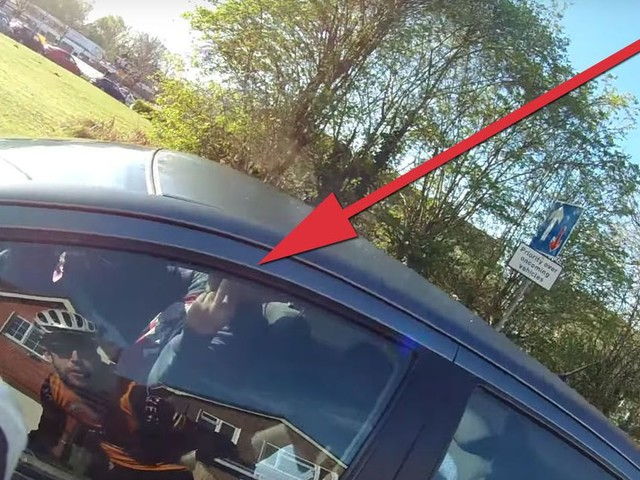 Helmet cam footage shows why it never, ever pays to be nice to people